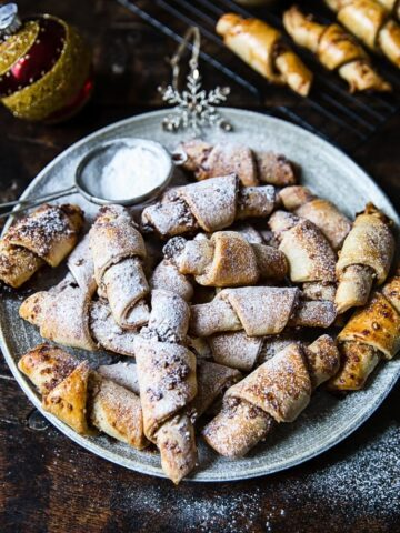 Honey, Cinnamon and Walnut Rugelach (Rogaliki)