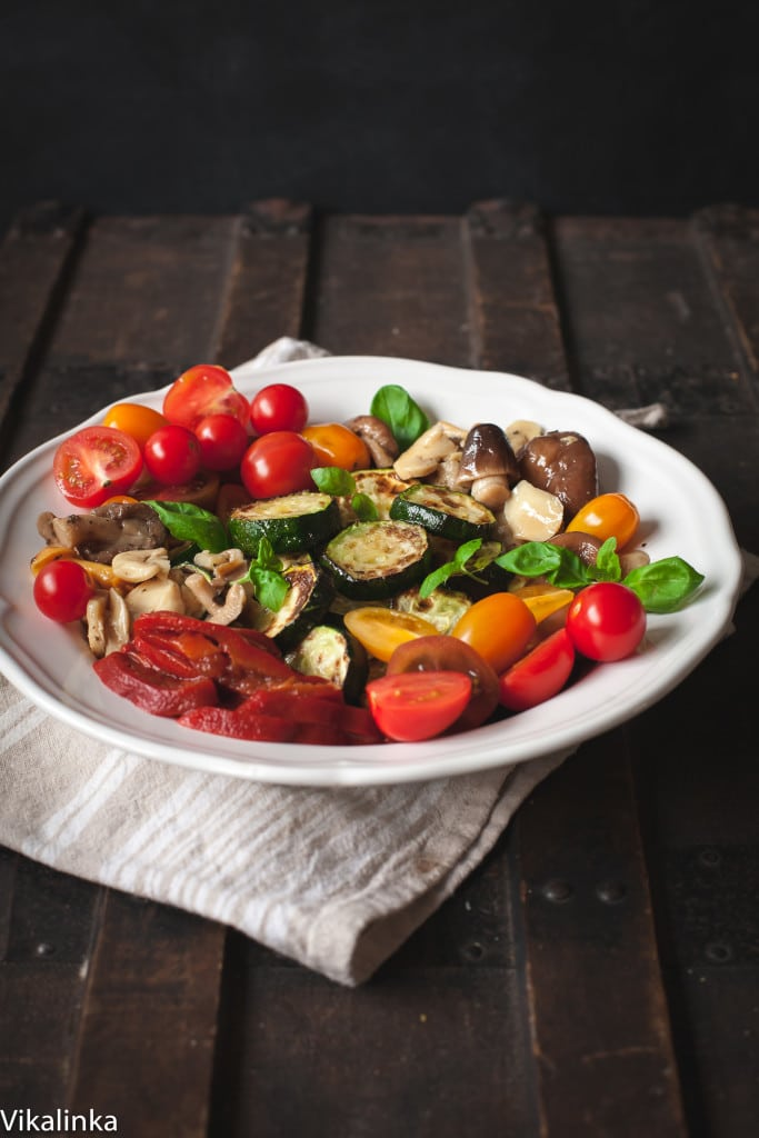 The ultimate antipasti salad you can enjoy warm or cold!