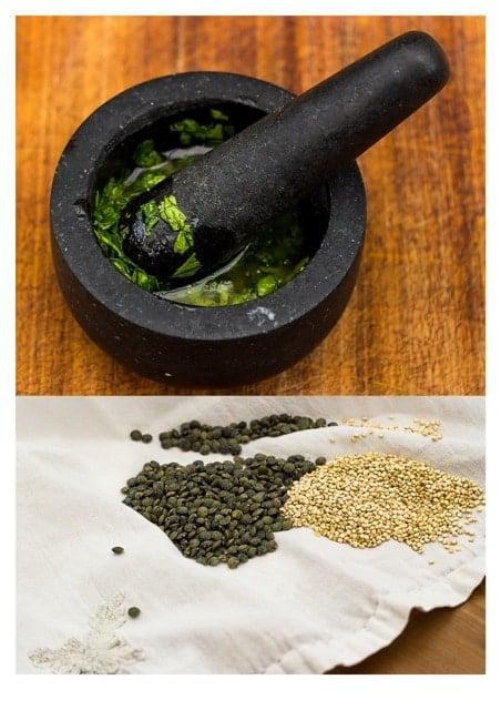Quinoa and Puy Lentil Salad with Lime Cilantro Vinaigrette