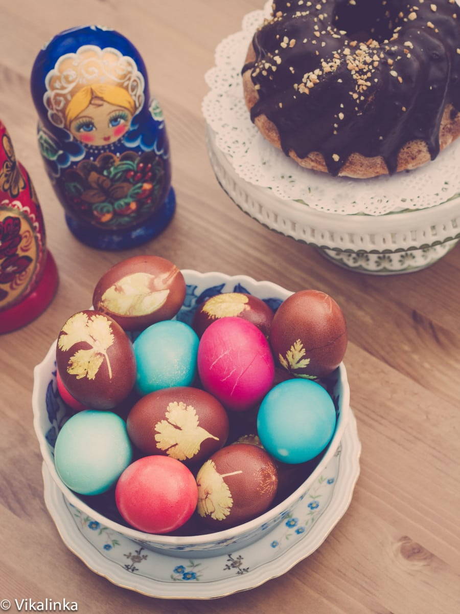 Naturally Coloured Easter Eggs Vikalinka