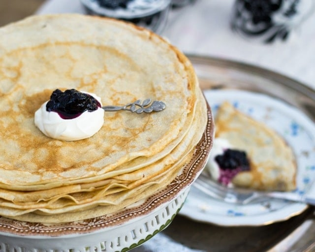 Russian Crepes Blini