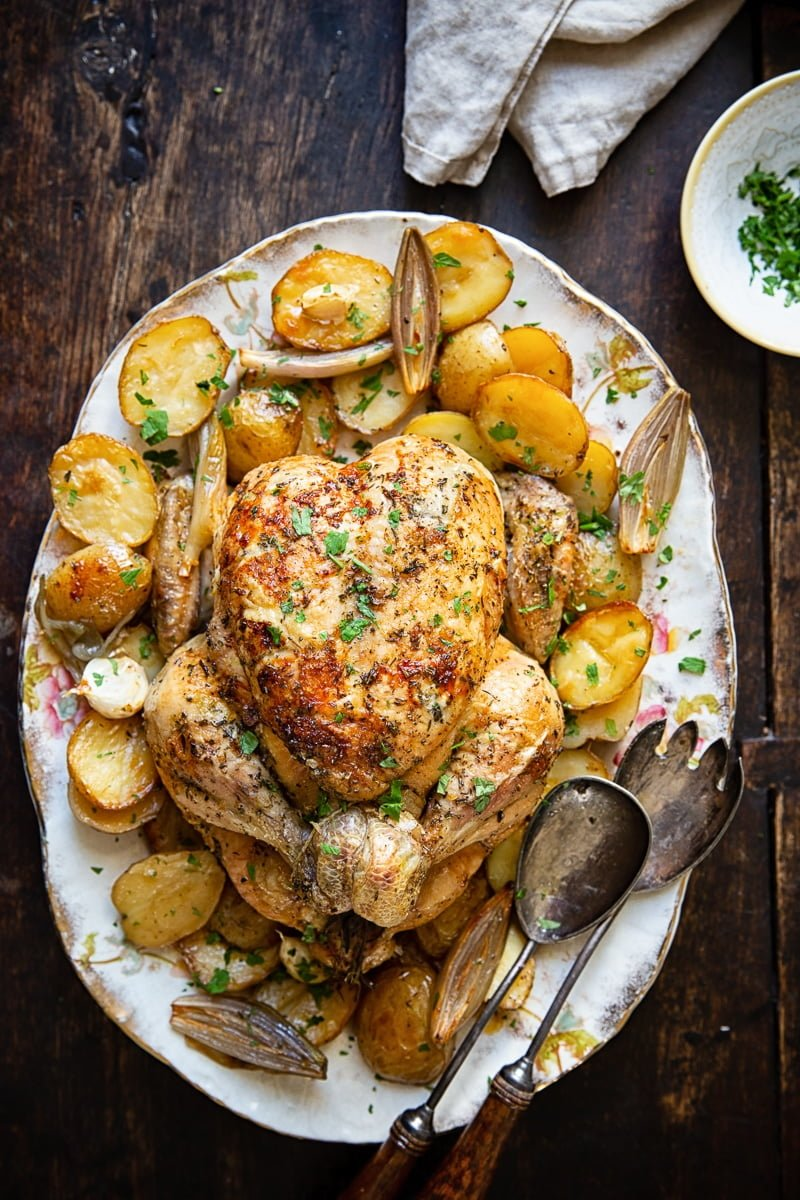 Rosemary and Thyme Roast Chicken and Potatoes