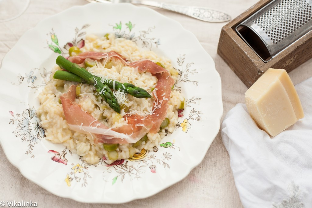 Asparagus Risotto with Prosiutto