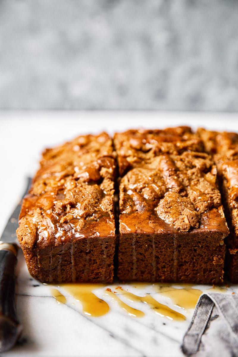 Apple Spice Cake with Salted Caramel Drizzle