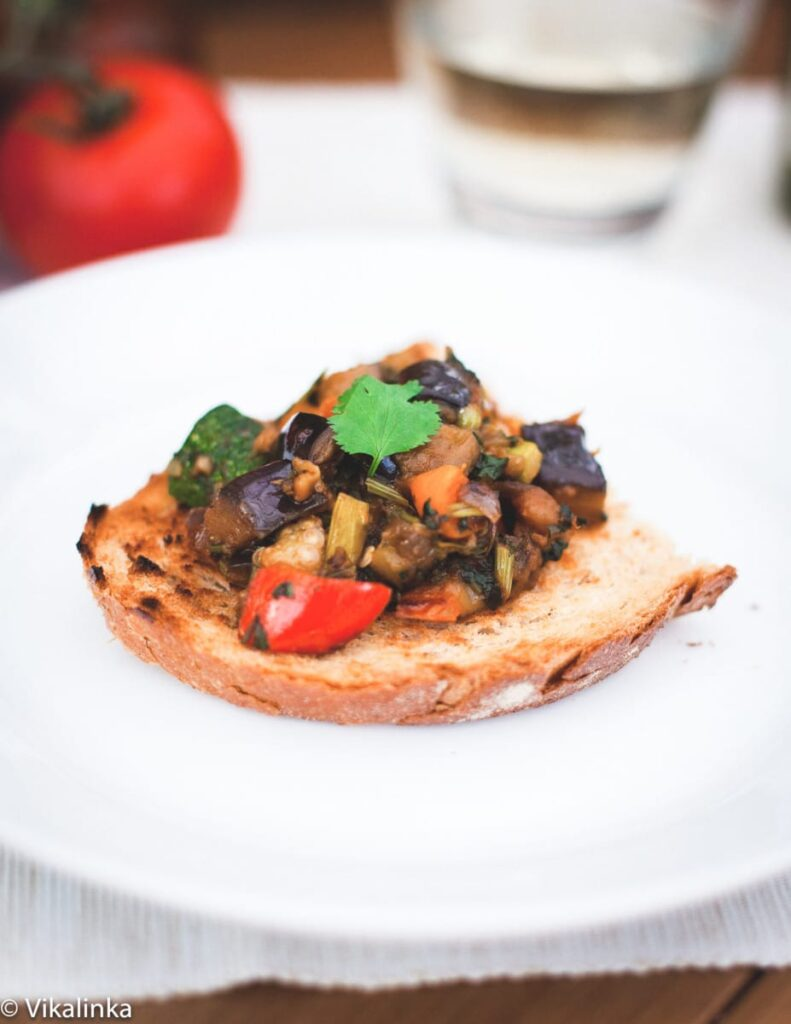 French Ratatouille or Russian Eggplant Caviar