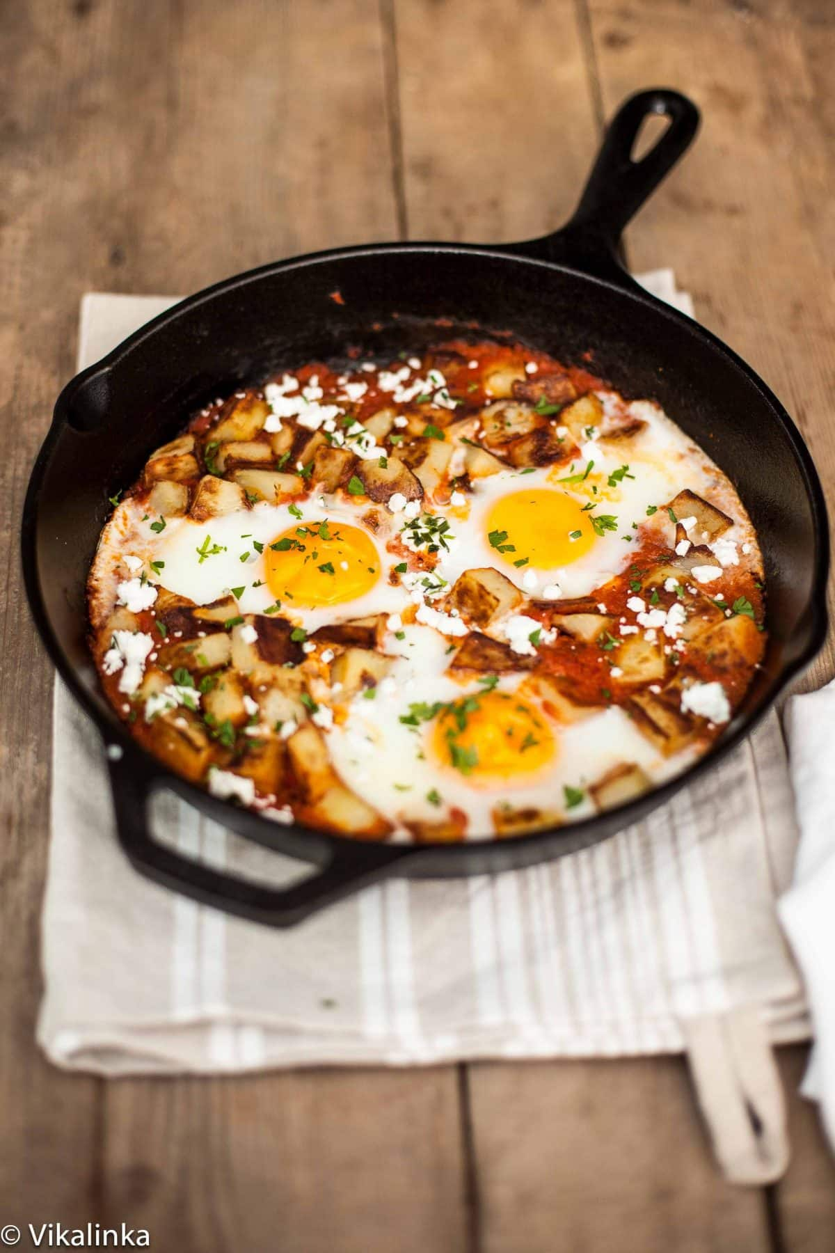 Spanish Hash {Patatas Bravas+Eggs}