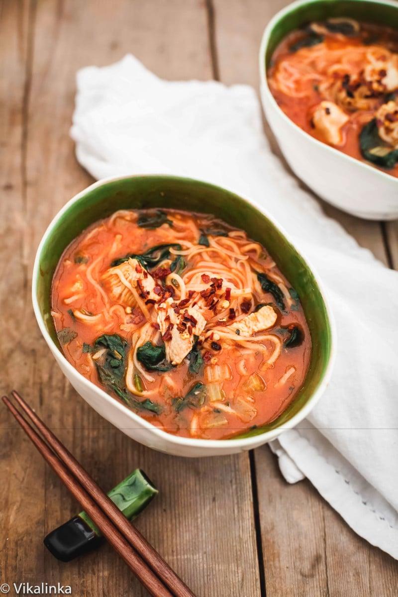 Thai Noodle Bowl-Chicken Noodle Soup with a Thai twist!