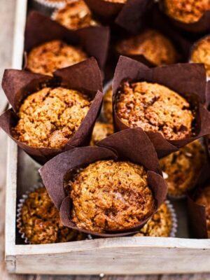 Toffee Honeycomb Pumpkin Muffins
