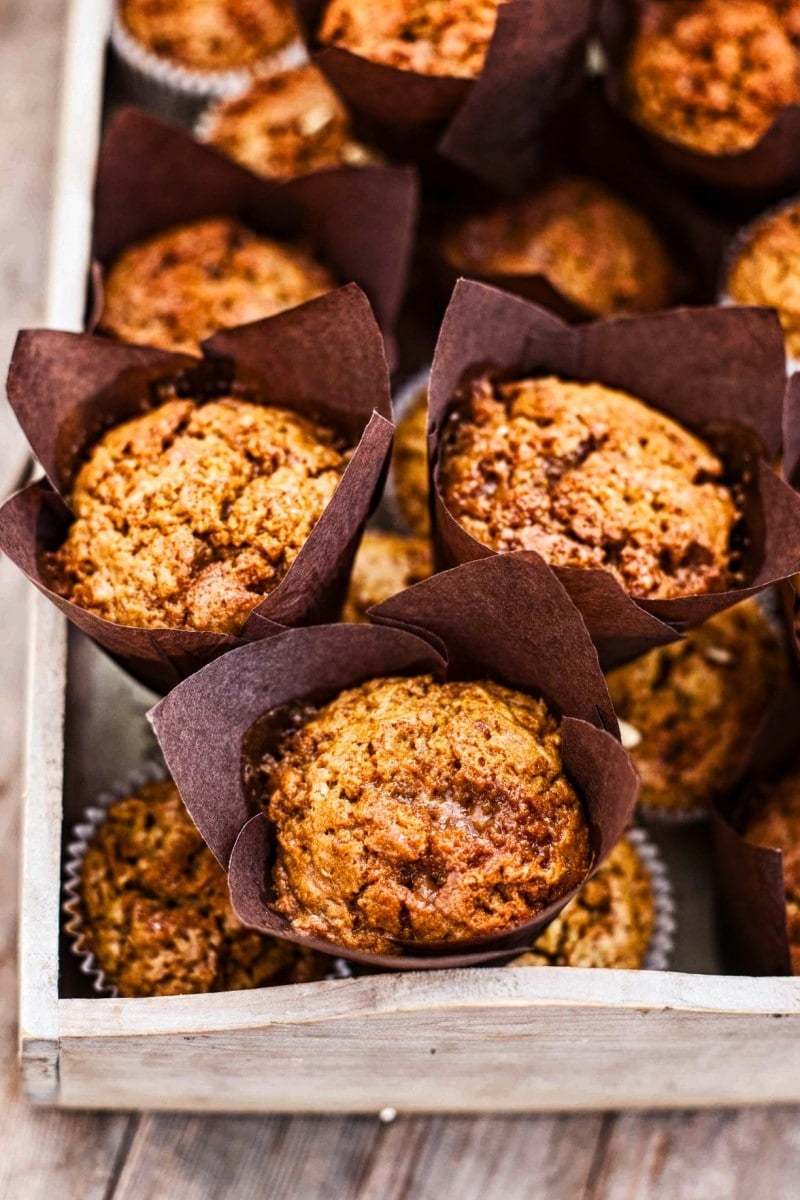 Toffee Honeycomb Pumpkin Muffins