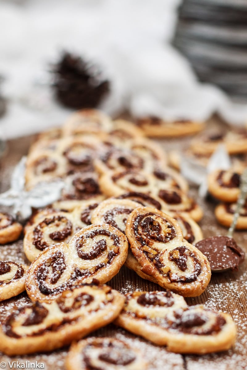 Nutella And Hazelnut Palmiers Vikalinka