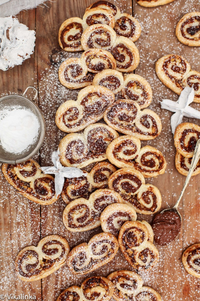 Nutella and Hazelnut Palmiers