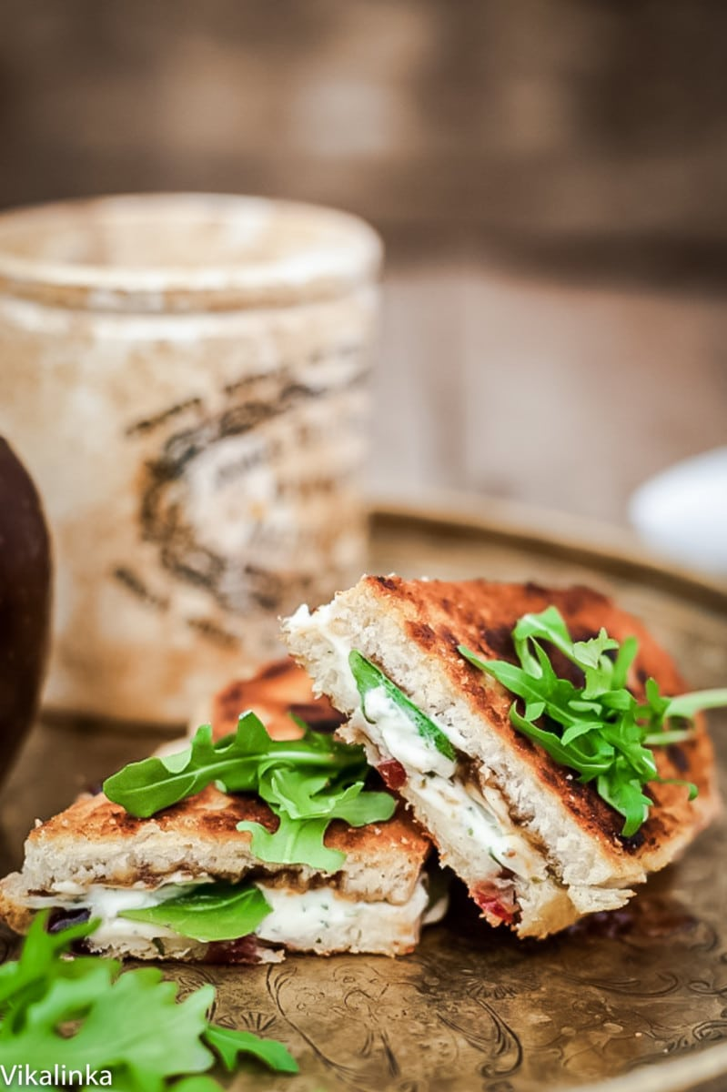 Grilled Goat Cheese and Fig Chutney Sandwich