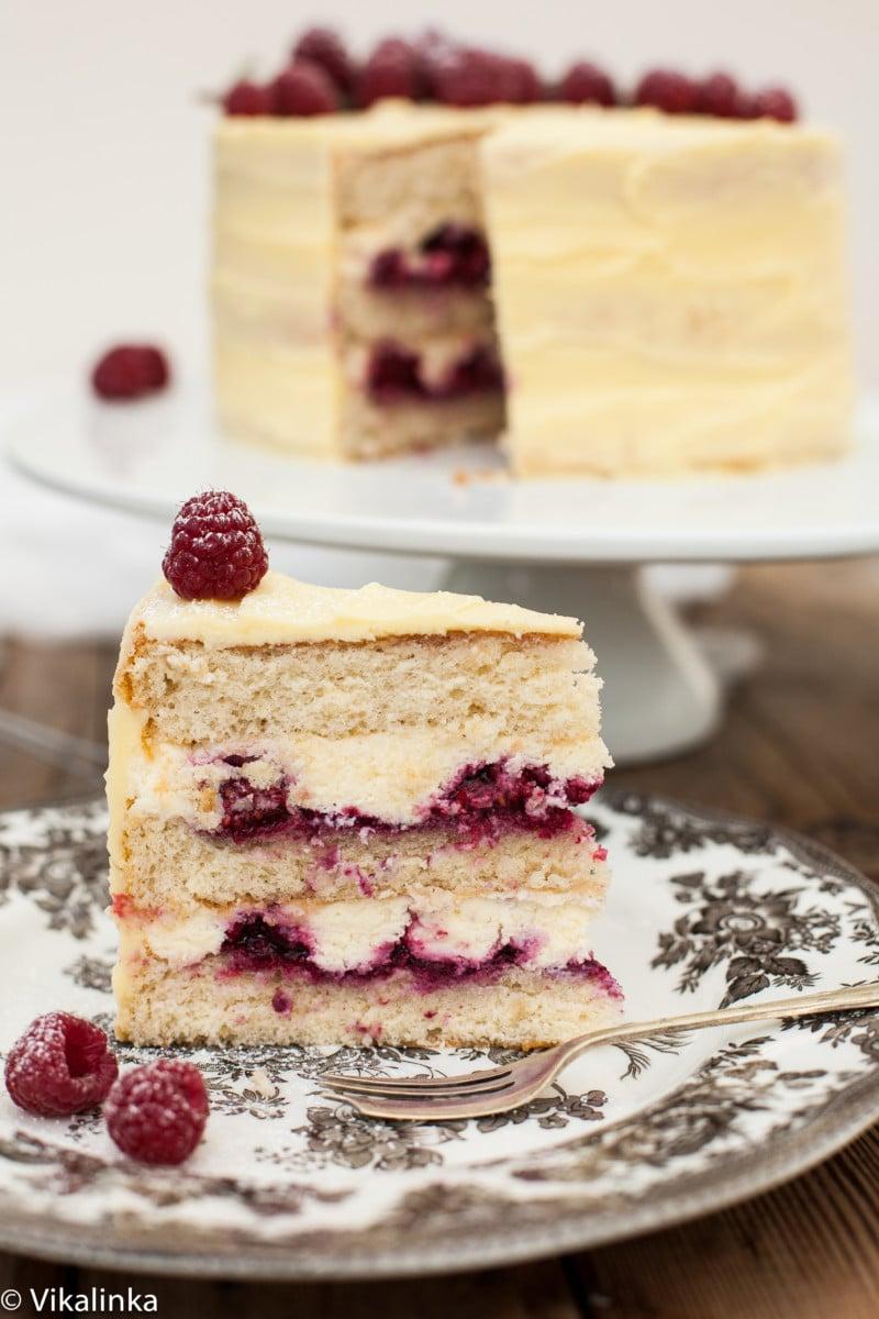 Awe Inspiring Frostbitten Raspberry Cake Vikalinka Funny Birthday Cards Online Fluifree Goldxyz