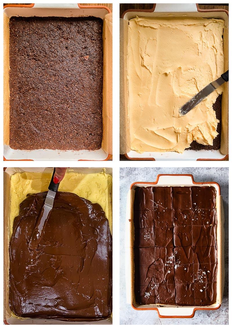 Nanaimo Bars process images