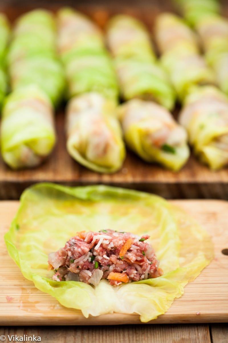 Cabbage Rolls (prep)