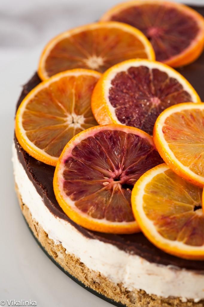Blood Orange Cheesecake (no bake).