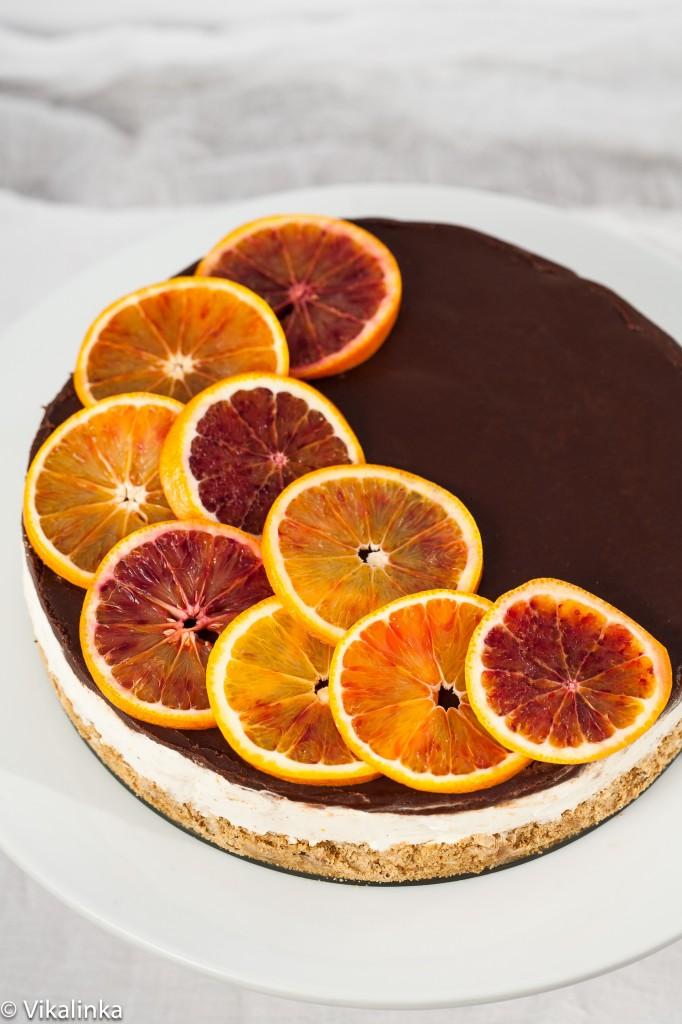 Blood Orange Cheesecake (no bake)
