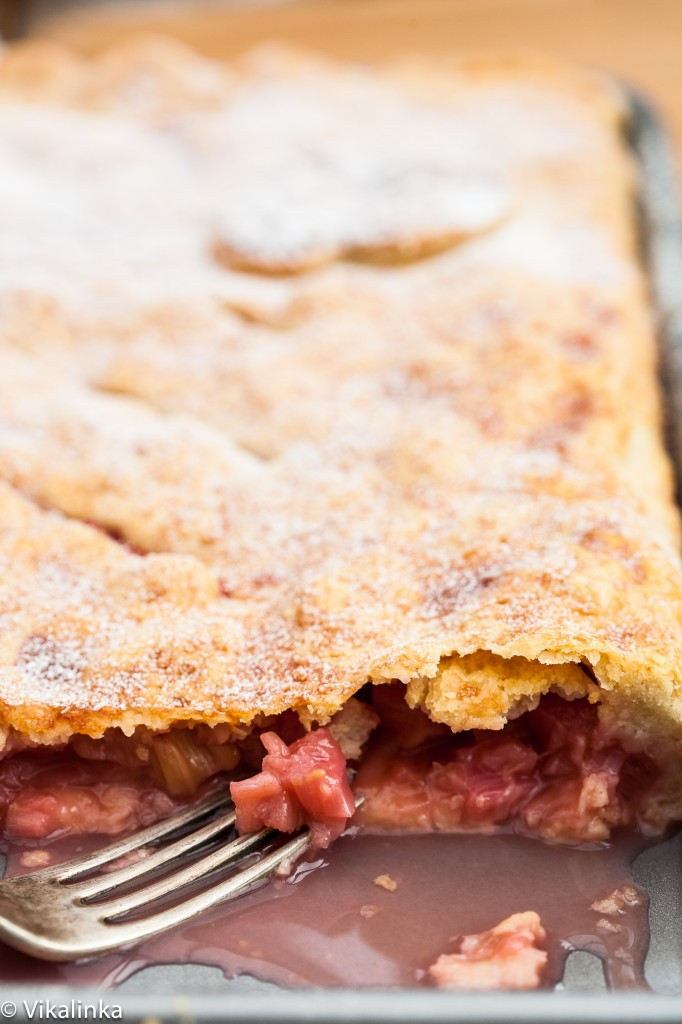 Rhubarb Slab Pie