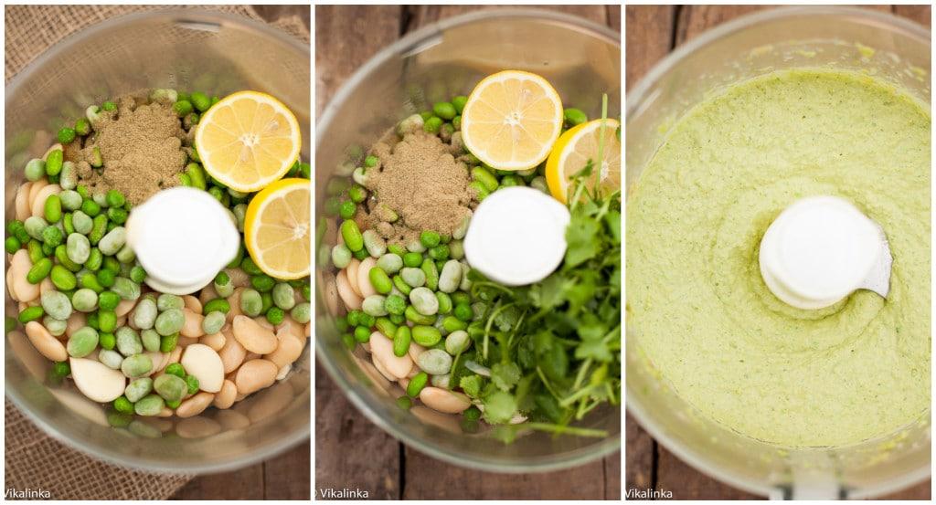 Lemony Edamame and Butter Bean Hummus