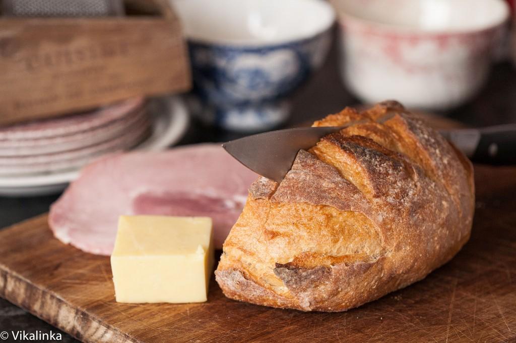 Croque Monsieur Sandwich (prep)