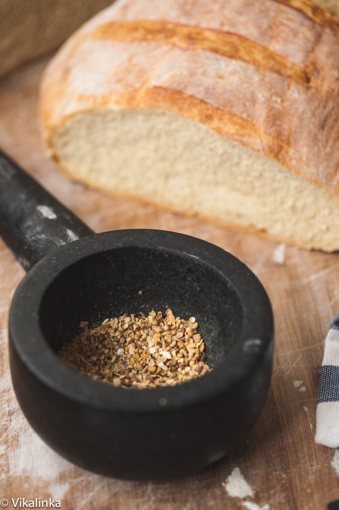 No Time-No Knead Bread with Dukkah Spice Dip. This amazing bread is ready in 2 hours from start to finish.