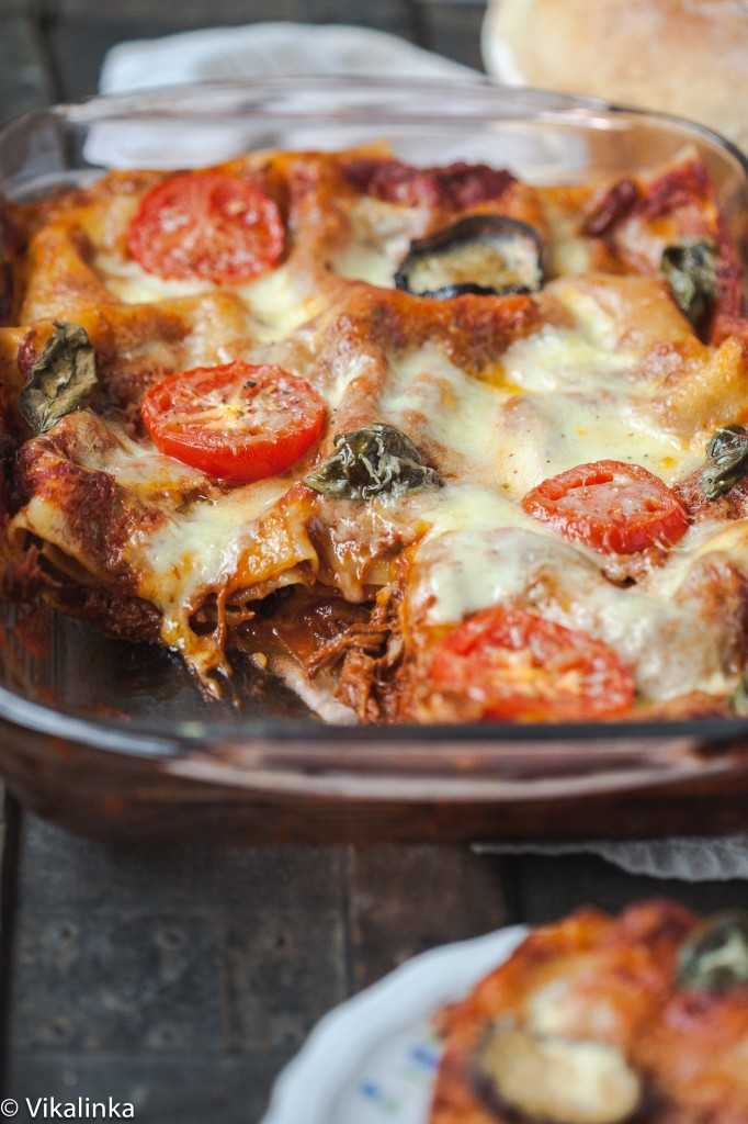 Rustic Three Cheese Lasagna