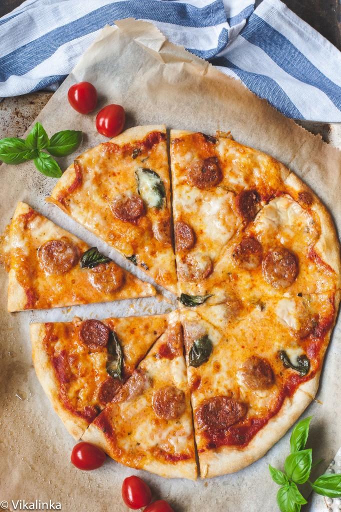 Smoked Gouda and Chorizo Pizza