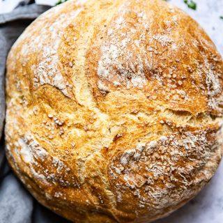 No Knead Farmhouse Bread