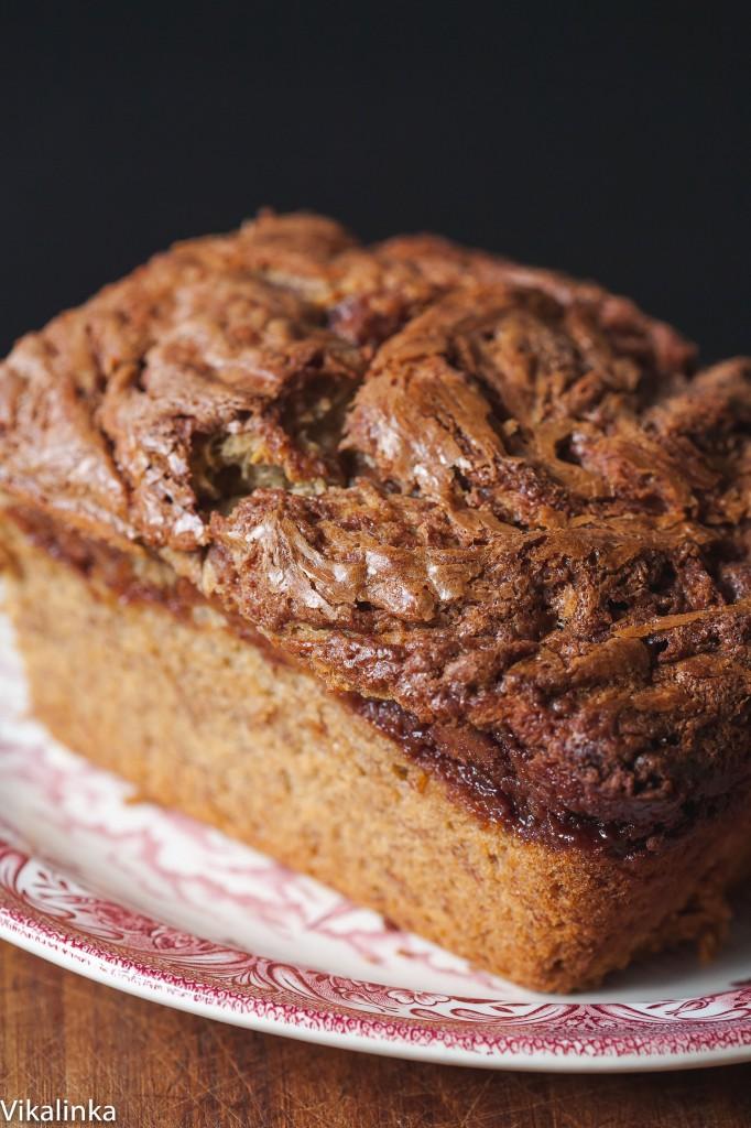 Nutella Crust Banana Bread