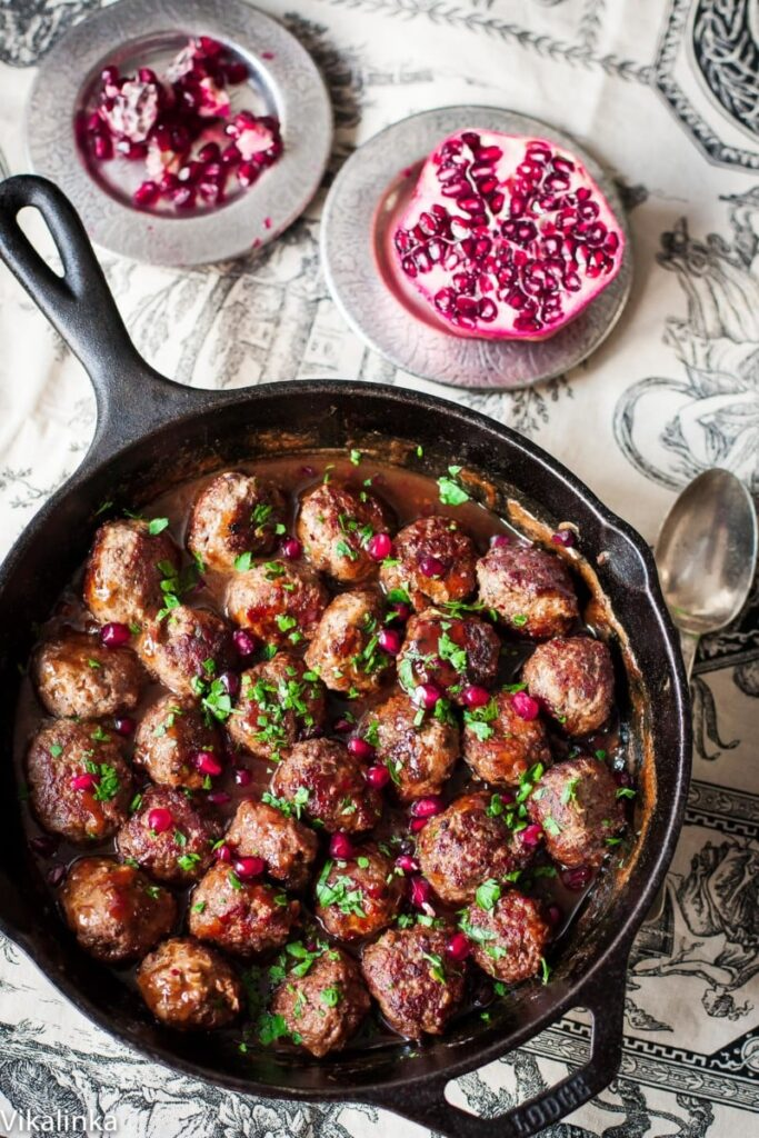 Spicy Meatballs in Pomegranate Sauce