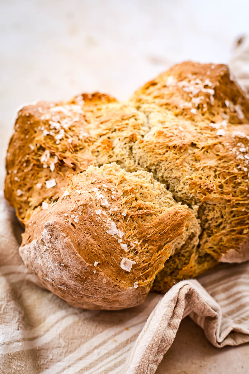 Honey Buckwheat Soda Bread With Sea Salt Video Vikalinka