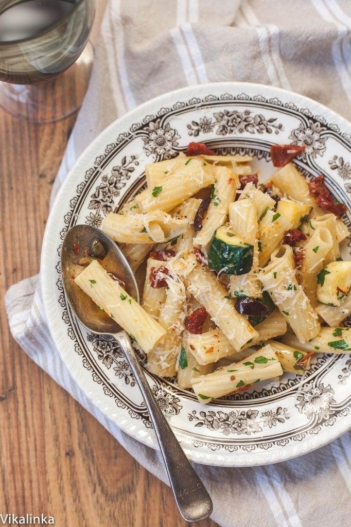 Mediterranean Pasta with Zucchini