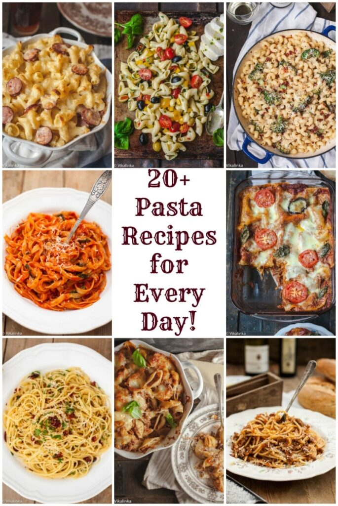 Delicious Pasta Recipes to last you a whole month!