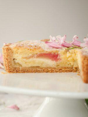 bakewell tart sliced