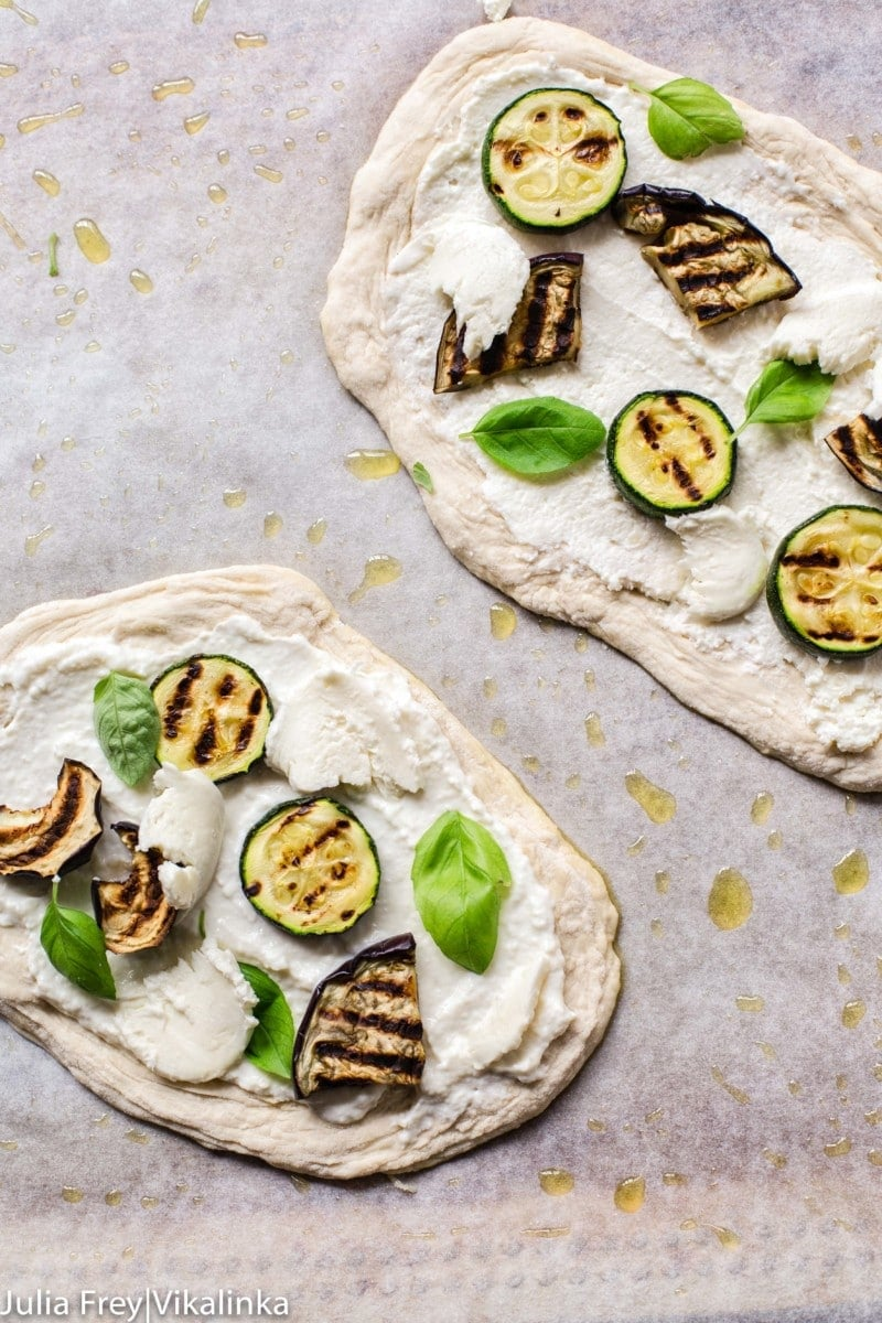 Grana Padano Grilled Vegetable Pizzeta Bianca