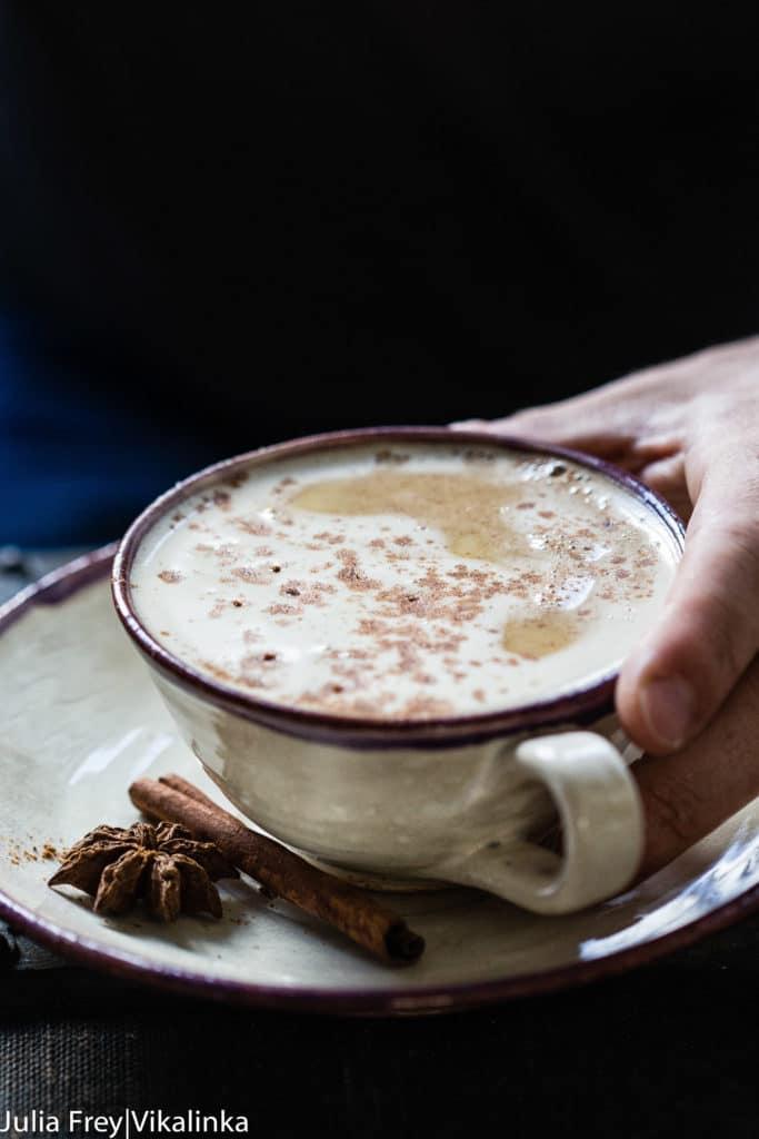 pumpkin latte in a mug