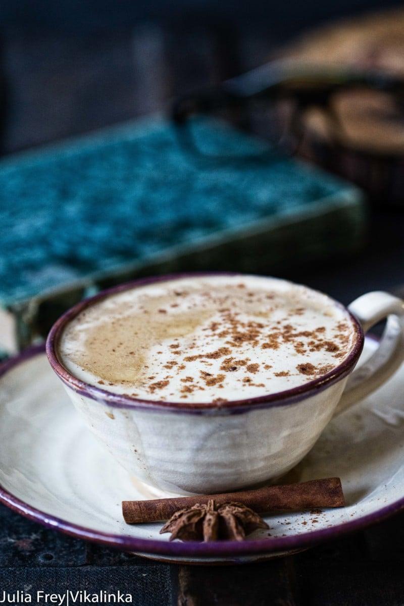 Mug with a pumpkin spice latte