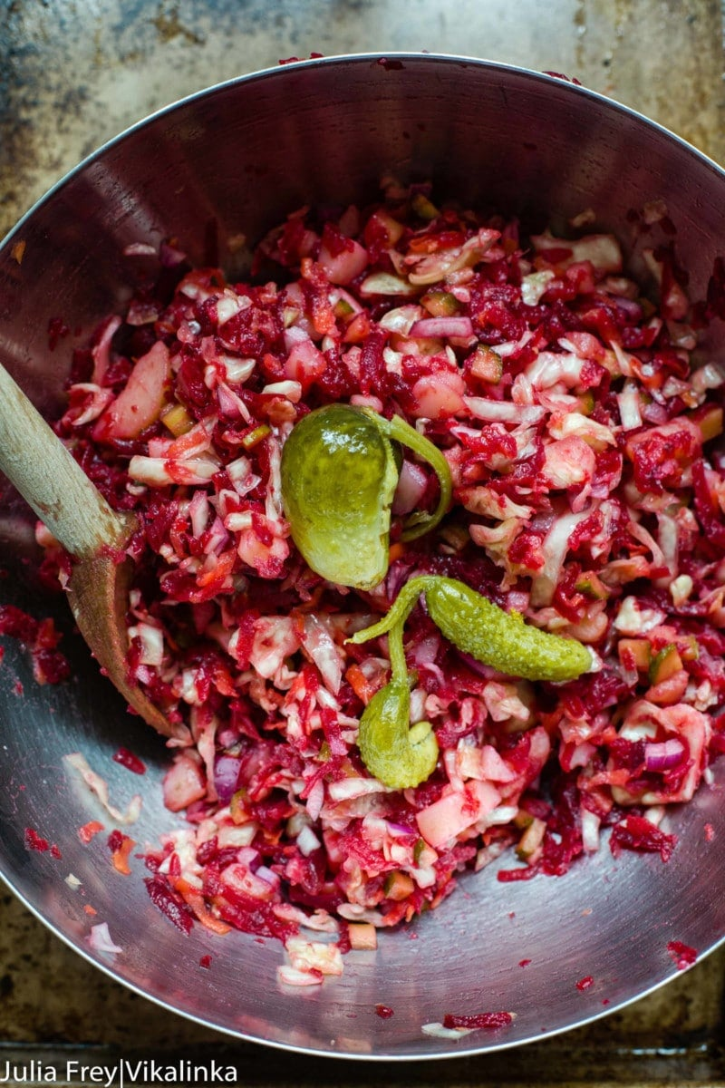 Beet and Sauerkraut Salad