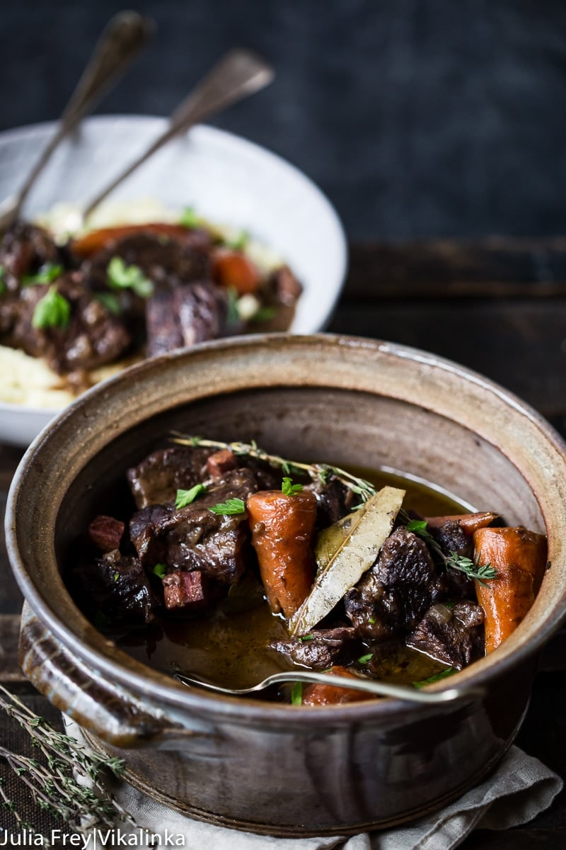 Beef Bourguignon is a classic French beef stew.