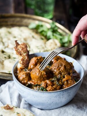 Indian Spiced Meatballs in Curry Sauce image