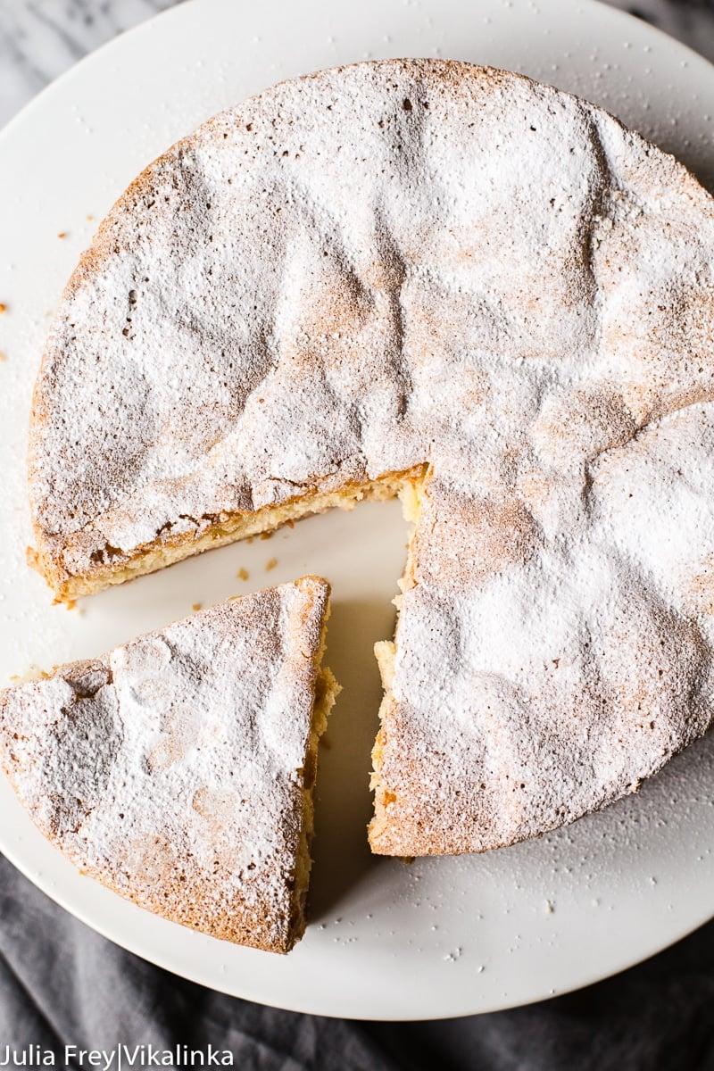 Rhubarb Cake (Sharlotka)