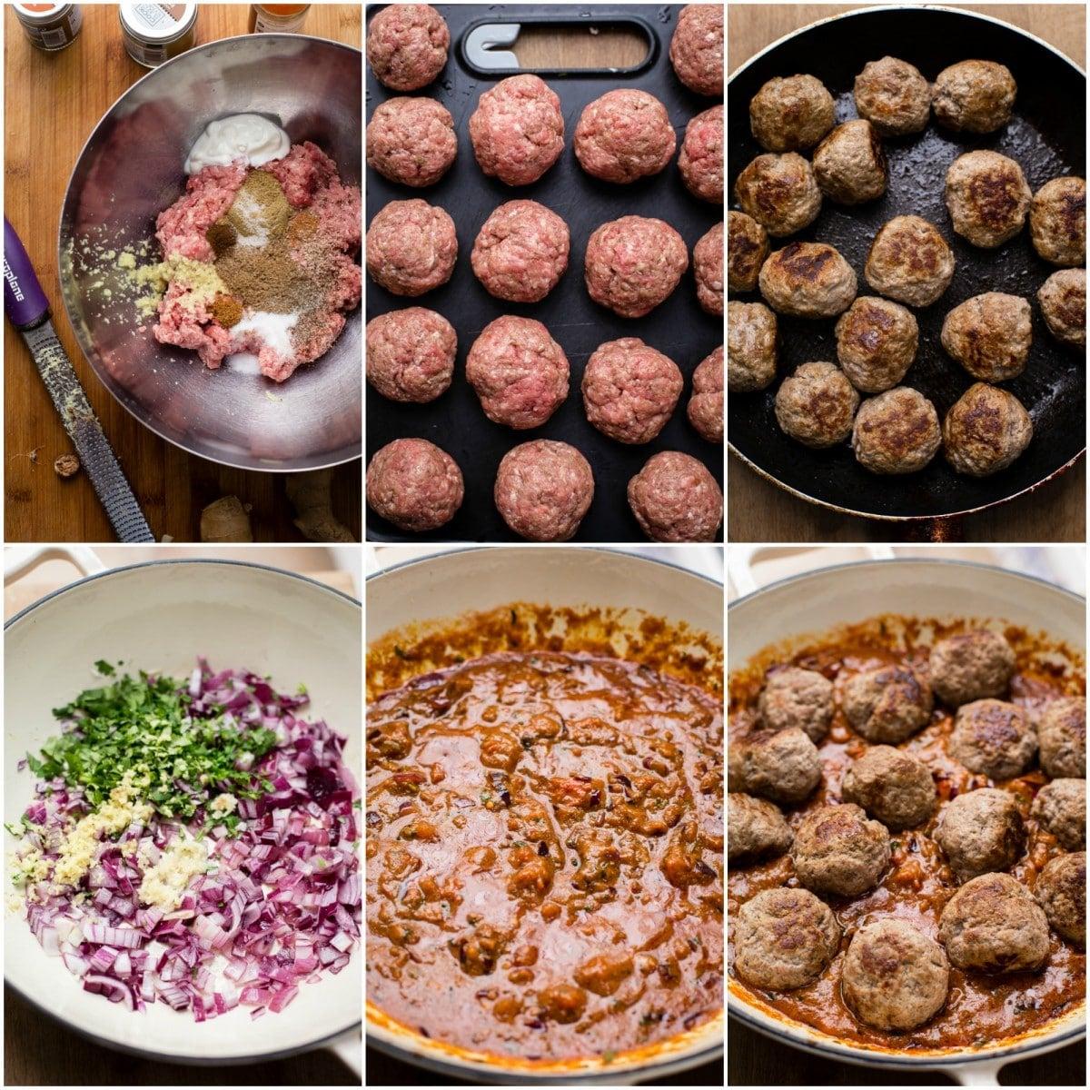 Indian Kofta Curry process images