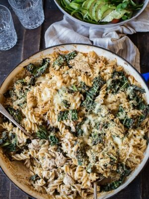 Tuna Noodle Casserole with Kale