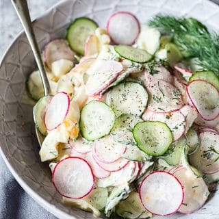 Creamy Dill Cucumber, Radish and Egg Salad