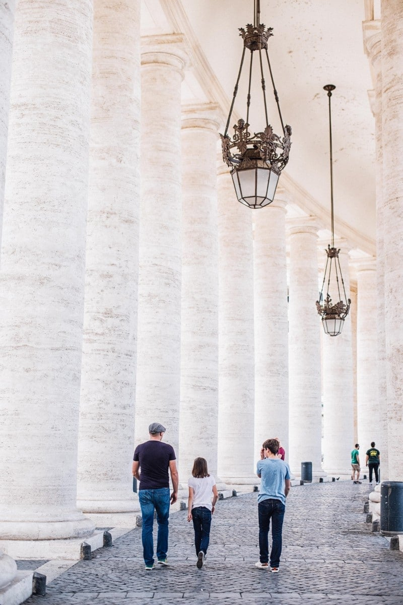 Colonnade at St Peter's Basilica
