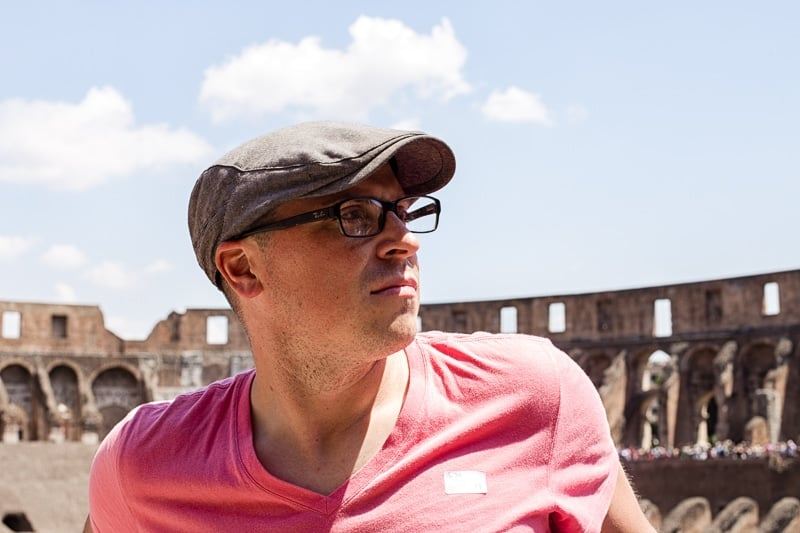 Brad at the Roman Coliseum
