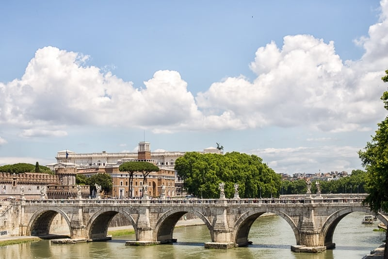View across the Tiber River