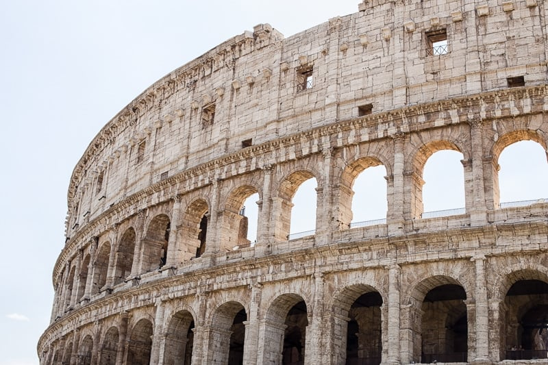 Outside the Coliseum