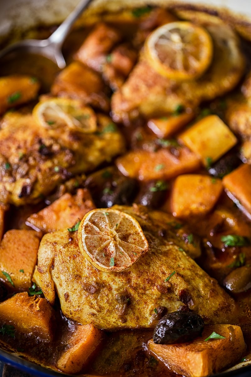 chicken tagine with squash and preserved lemons