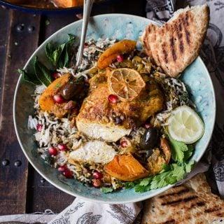 Moroccan Chicken Tagine over rice